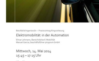 """Ringvorlesung """"Elektromobilität in der Automation"""""""